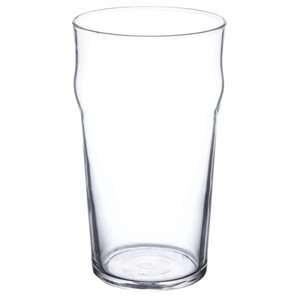 "Beer glass 20 oz ""nonic"" (48 / case)"