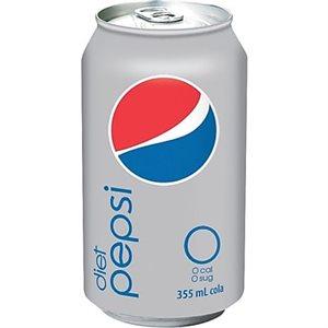 Diet pepsi cans 24 x 355 ml