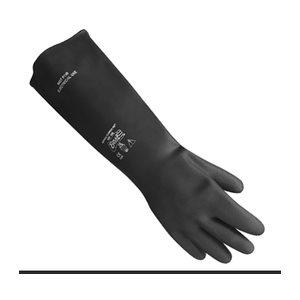 Gants latex noir avec doublure ouatée (1 paire)