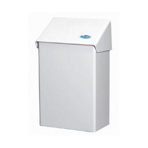 Poubelle sanitaire en métal blanc