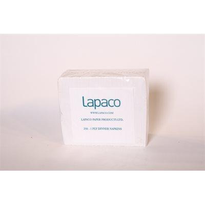 Serviettes de table lapaco 1 / 8 1pli 3000 / cs