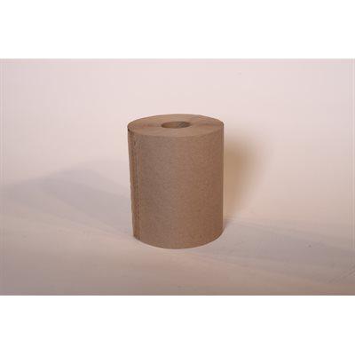 "Papier à mains brun 8""x205' (24rlx)"