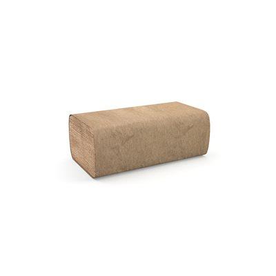 """Papier à mains pli simple brun 9.1""""x10.25"""" (4000 / cs)"""