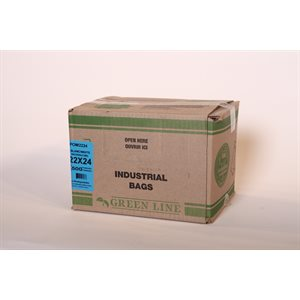 Garbage bags 22x24 white 500 / cs