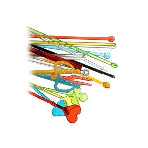 """Assorted color plastic arrow 6"""" (2000 / cs)"""