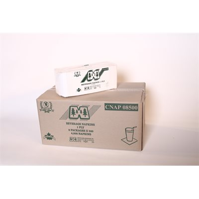 Serviettes cocktail 1 / 4 1pli - (4000 / cs)