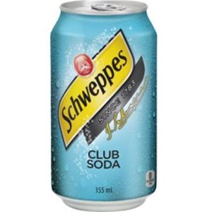 Club soda canettes 12 x 355 ml